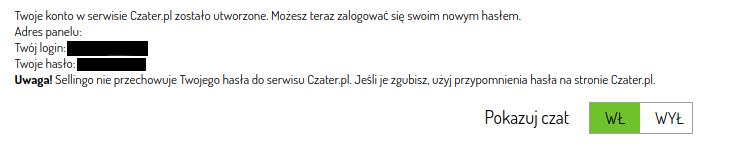 aktywacja konta w czater.pl