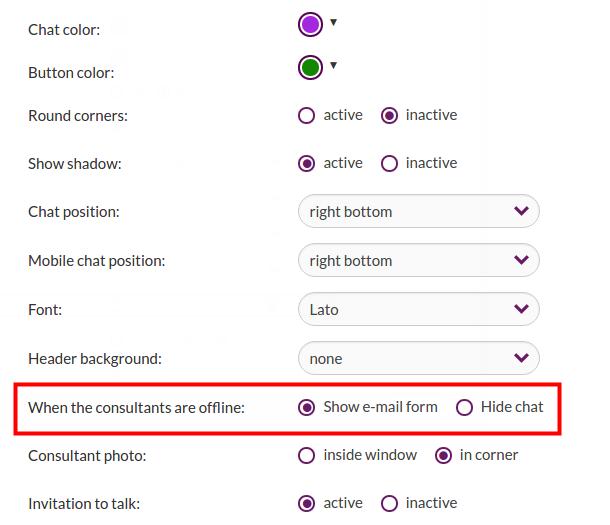 Hide chat in offline mode