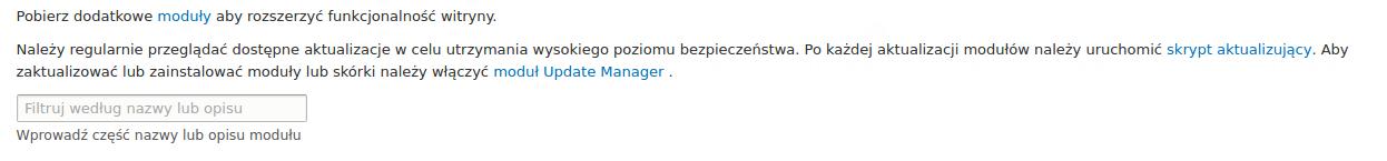 modułu Update Manager